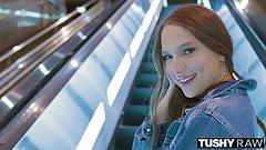 TUSHYRAW Beautiful Latina Gapes and Gapes Some More