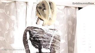 fx-tube com Latex sleeping bags and plastic step mummification
