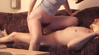 Sexy amateur couple – real orgasm fuck, homemade