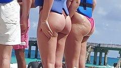 Teen girl round booty small bikini voyeur