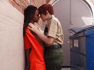 Confessions of a lesbian prison guard - Prison guard behind dumpster