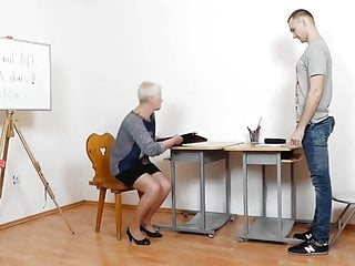 Sexy mature teacher handjob videos Mature teacher handjob blowjob long red nails