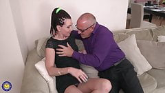 Mature mother suck and fuck sugar daddy