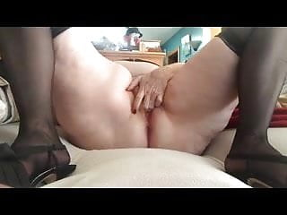 Loud lesbian orgasm - Mature amateur bbw toys hersel to a loud orgasm