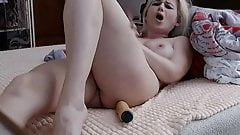 Russian girl caresses her pussy with a dildo (No sound)