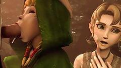 Horny Babes Zelda & Mipha SFM