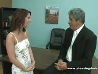 Old guy fuck young girl Old guy fucks girl interviewing for job