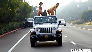 VIXEN Two best friends go west for a threesome they will nev