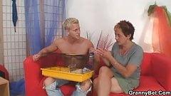 Hot looking guy fucks neighbour granny