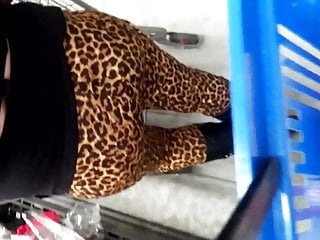 Asses lined up Candid leopard print pawg booty waiting in line