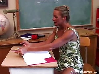 Teacher fuck suck movies - Horny mature teacher fucks her pussy and sucks cock
