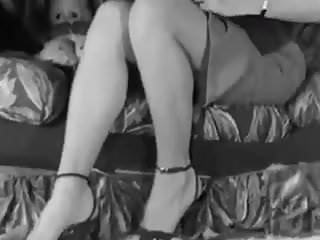 Vintage 50s furniture - Couch strip - vintage big boobs blonde teases 50s heels