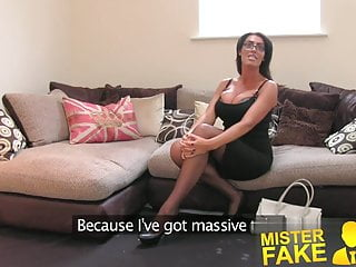Free hairy tall chicks Misterfake tall secretary chick with incredible tits