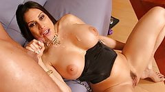 Latin milf, Sheila Marie had wild anal sex on the couch