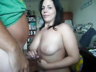 Blowjobs gals Thick gal gets cum on her big tits