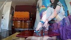 Bastienne Cross Blue Heels Cockbox Ruined Orgasm PREV