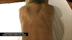 Russian blonde sucks his dick like no other girl ever did