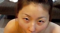Beautiful Chinese wife's lovely blowjob