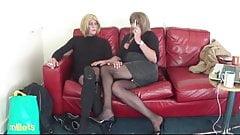 2 British TV Slags enjoy an afternoon