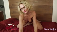 Natie Lotions Up And Masturbates In Red Lingerie