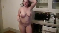 Ex-Wife Madison James stripping huge natural tits