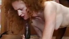 English Red Headed Screamer fucks two Black Cocks-F70
