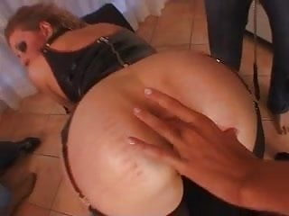Female anal squeeze sex Mistress - slave - female slave and three guests