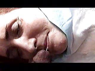 Flush sperm cum Sara swallowing my spermcum on face