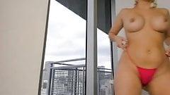 Blond big firm tits ass butt fucking hairy pussy vibrator