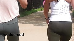 Candid Booty PAWGs in Spandex