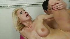 blonde milf enjoys her lover's cock
