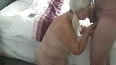 71 year old granny jerks and sucks cock