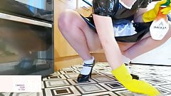 LET ME SHINE UR COCK MASTER - LATEX MAID - Shannon Heels