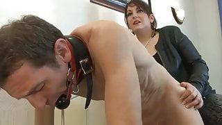 French mistress fucks her slave