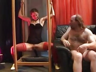 Straight men and trannies - Old men and a young stripper