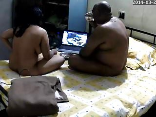 Amateur indian sextapes - Lucknow girl alisha watching her own sextape