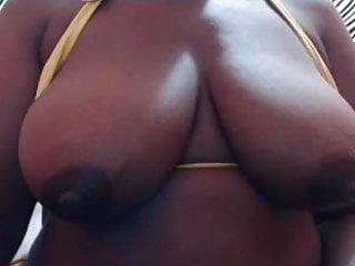 Black milking white boob - Milk boobs