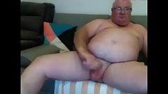big cock grandpa stroke on webcam