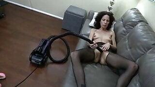 Vacuuming pussy hard