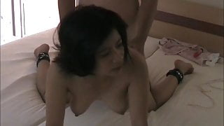 Busty asian pinay wife gets fuck home and on beach