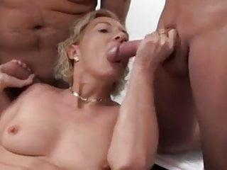Granny got fucked Hot and horny granny got a gangbang