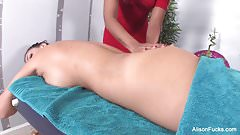 Alison and Skin's sexy lesbian massage session