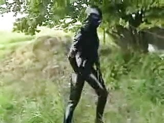 Fetish latex escort Fetish latex couple have a nice fuck outdoor
