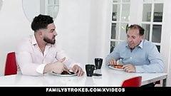 FamilyStrokes - Step bro Pranking Virgin Step sister With Re
