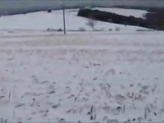 Amateur teen couple fucks Teen couple fucks outside on snow