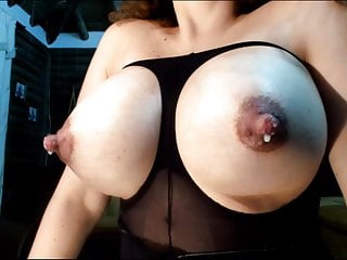 Monster lactating breast - Huge latina ass spread and squirt pussy, lactate breast milk