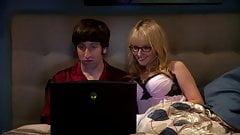 Melissa Rauch (Big Bang Theory) watches spunk vid