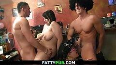Huge tits group gangbang orgy