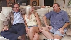 Cuckold Hubby Cleans Hot Blonde Wife's Creampie Cunt