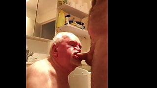 Grandpa Gums Dick With Toothless Mouth